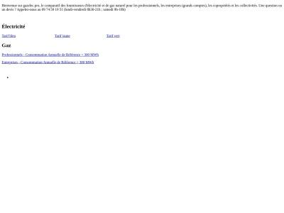 Electricité et gaz pour les entreprises - Gaz Elec