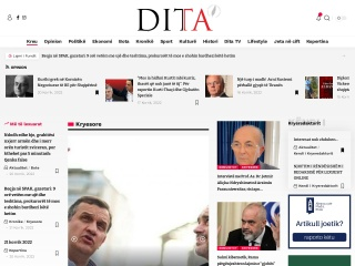 Foto ekrani për gazetadita.al