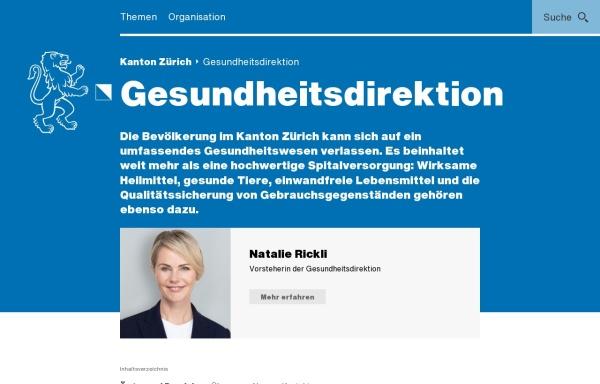 Vorschau von www.gd.zh.ch, Gesundheitsdirektion