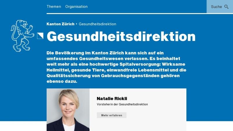 www.gd.zh.ch Vorschau, Gesundheitsdirektion