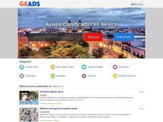 Captura de pantalla para geads.com.mx