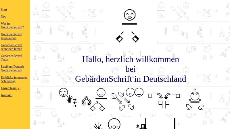 www.gebaerdenschrift.de Vorschau, GebärdenSchrift