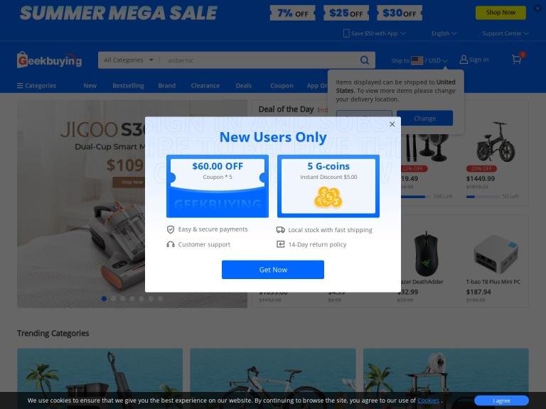 Geekbuying screenshot