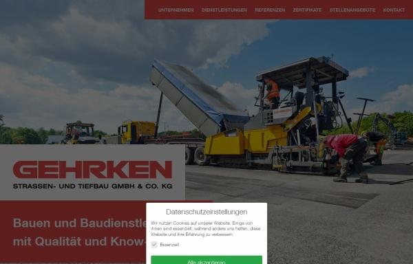 Vorschau von www.gehrken.de, Gehrken Straßen- und Tiefbau GmbH