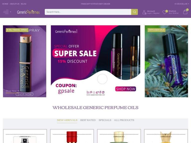 Generic Perfumes screenshot