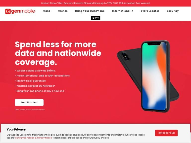 Gen Mobile Coupon Codes & Promo codes