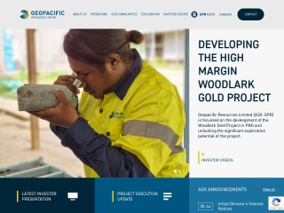 Screenshot for geopacific.com.au