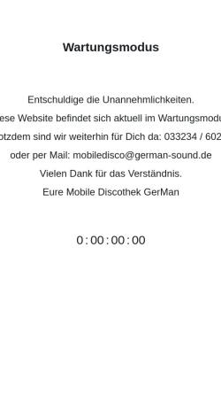 Vorschau der mobilen Webseite www.german-sound.de, GerMan