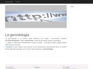 screenshot gerontologia.it
