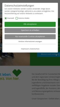 Vorschau der mobilen Webseite www.gfs-bielefeld.de, Gesellschaft für Sozialarbeit e.V.