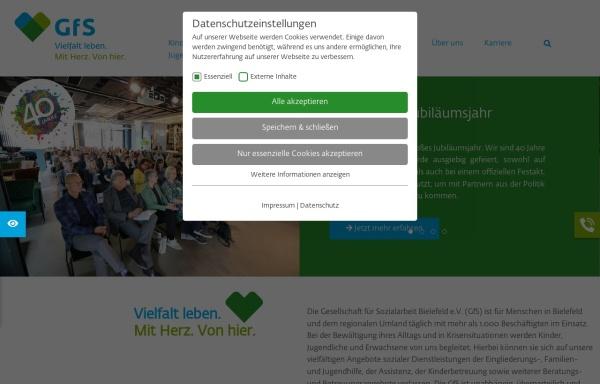 Vorschau von www.gfs-bielefeld.de, Gesellschaft für Sozialarbeit e.V.