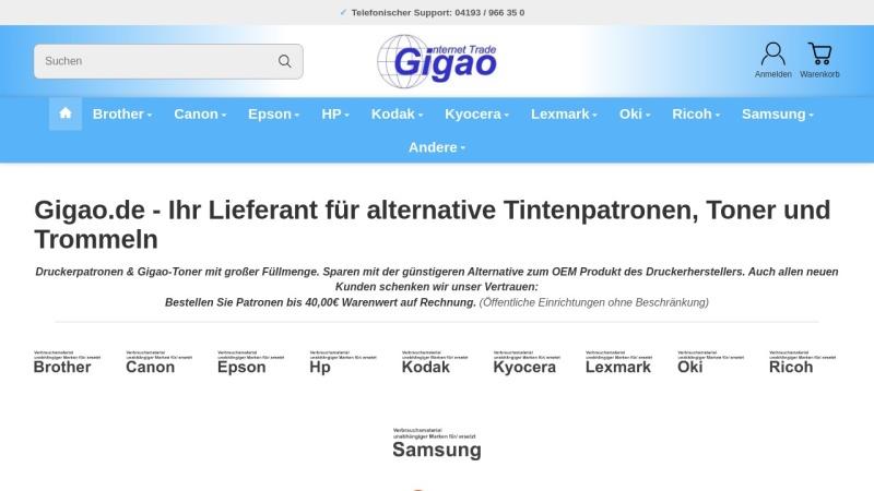 www.gigao.de Vorschau, Gigao Internet Trade, Martin Klode