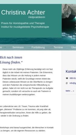 Vorschau der mobilen Webseite www.gim-musiktherapie.de, Christina Achter