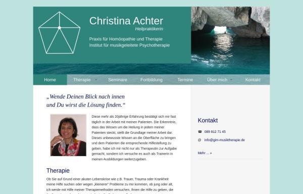 Vorschau von www.gim-musiktherapie.de, Christina Achter