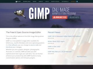 Screenshot for gimp.org