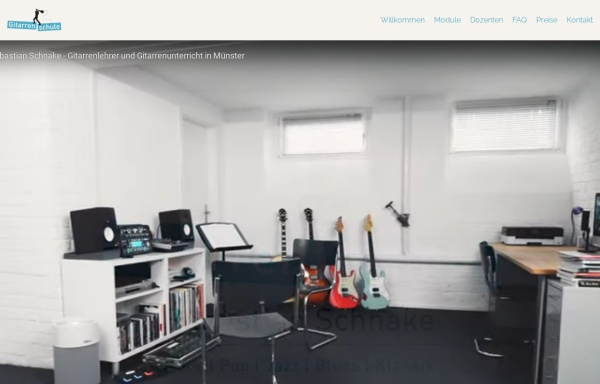 Vorschau von www.gitarrenunterricht-muenster.de, Schnake, Sebastian