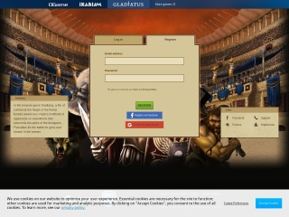 Captura de pantalla para gladiatus.com.mx