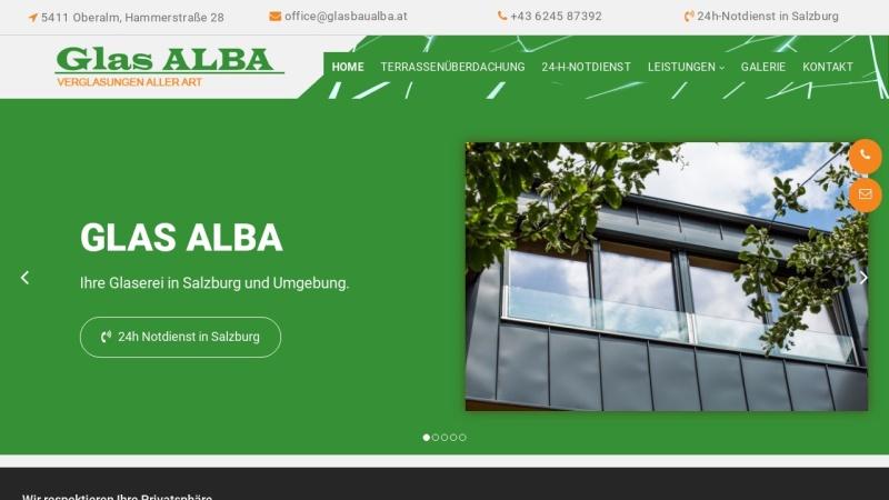 www.glasalba.at Vorschau, Glaserei ALBA