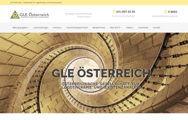 Vorschau von www.gle.at, Gesellschaft für Logotherapie und Existenzanalyse - Österreich