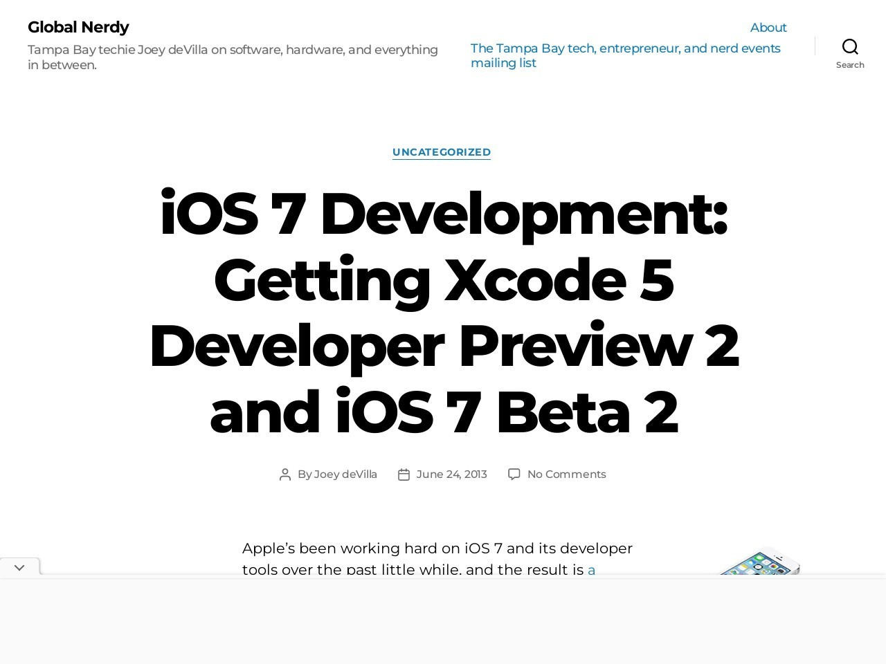 iOS 7 Development: Getting Xcode 5 Developer Preview 2 and iOS …