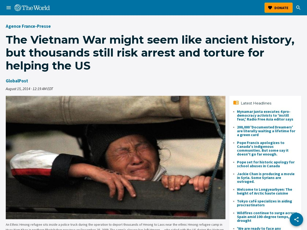 The Vietnam War might seem like ancient history, but thousands still risk …