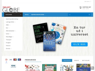 Skærmprint af webstedet globe.dk