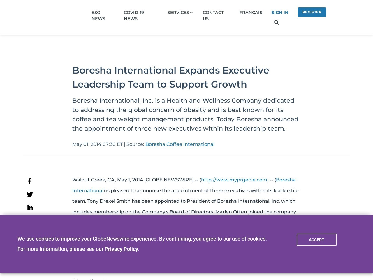 Boresha International Expands Executive Leadership Team to Support Growth