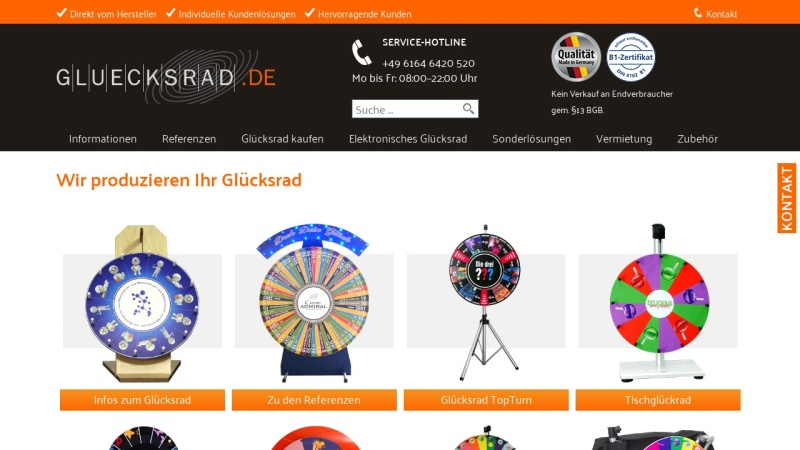 www.gluecksradshop.de Vorschau, Glücksradshop, Ralf Geppert
