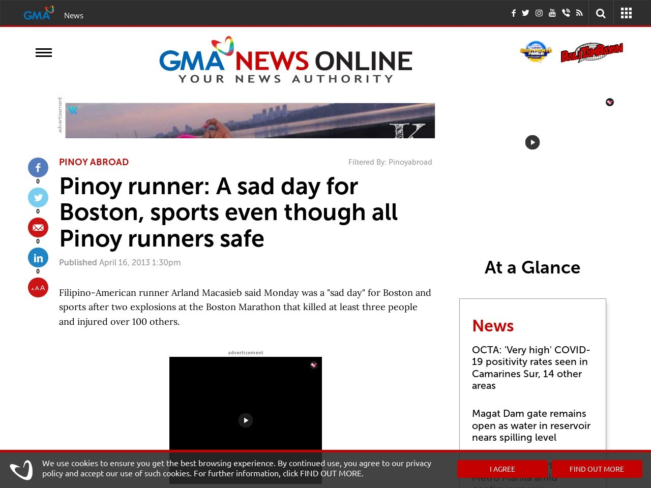 Pinoy runner: A sad day for Boston, sports even though all Pinoy runners safe