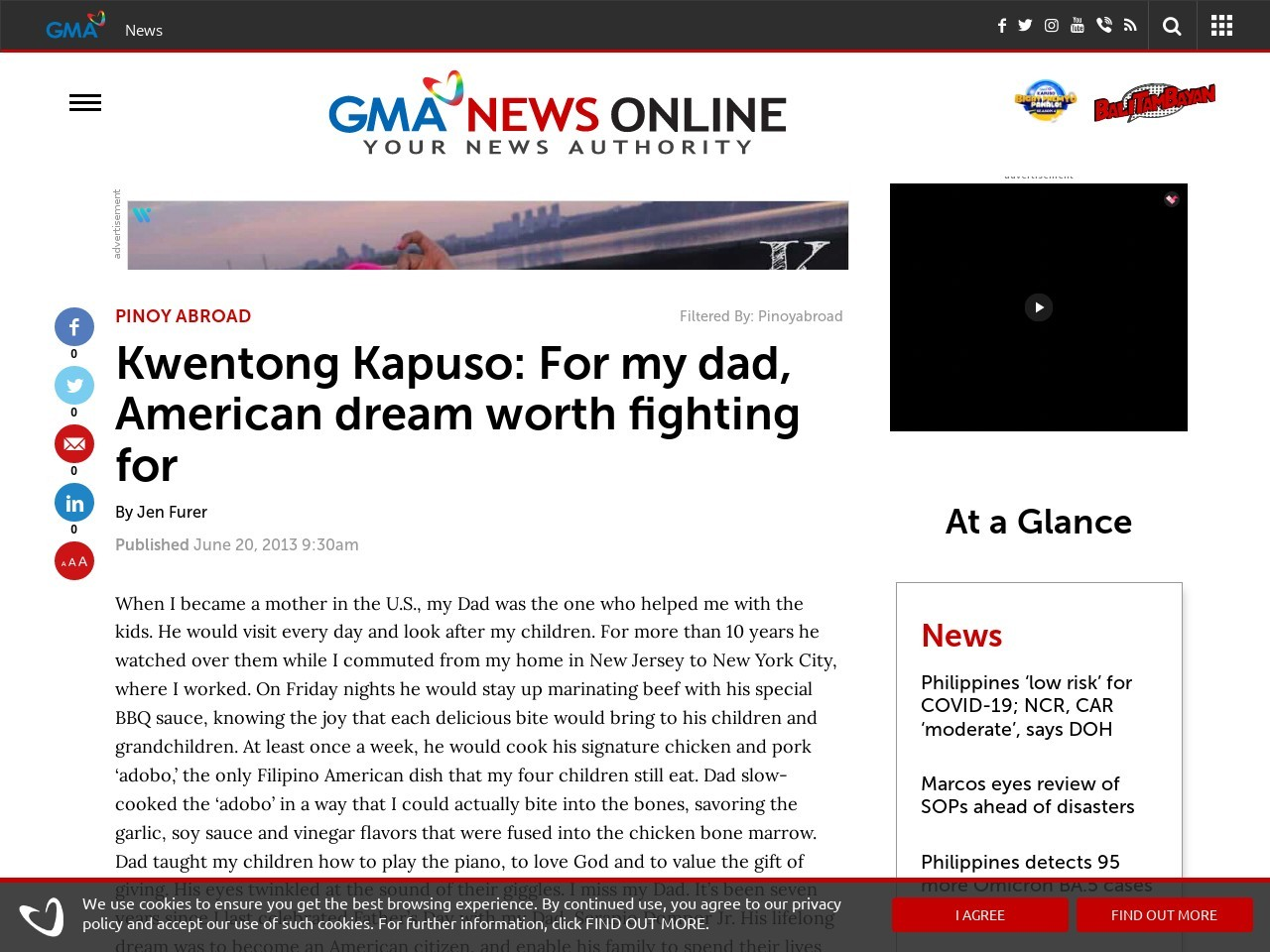 Kwentong Kapuso: For my dad, American dream worth fighting for