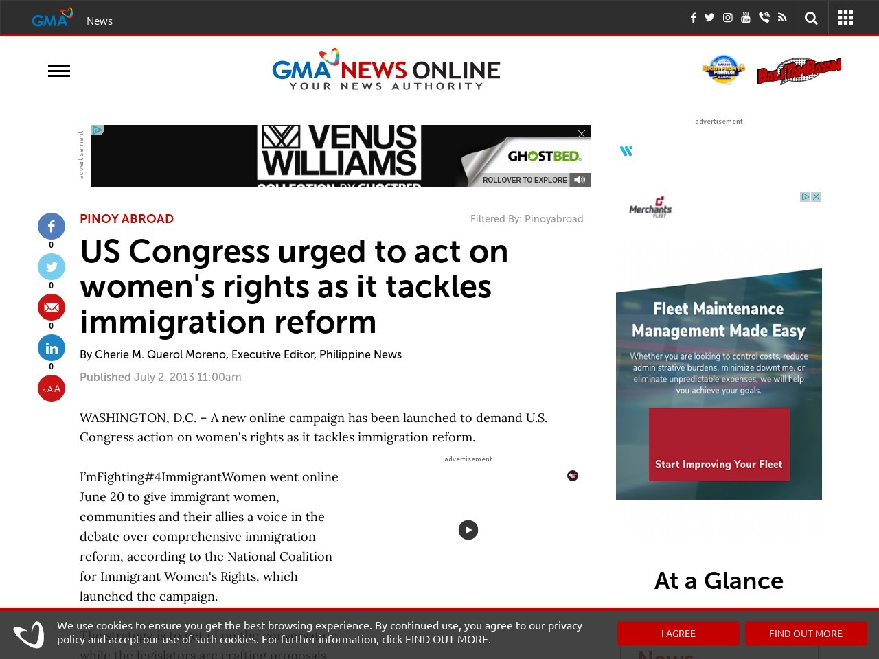 US Congress urged to act on women's rights as it tackles immigration reform