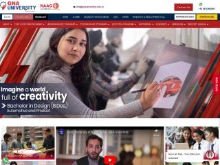 Screenshot for gnauniversity.edu.in