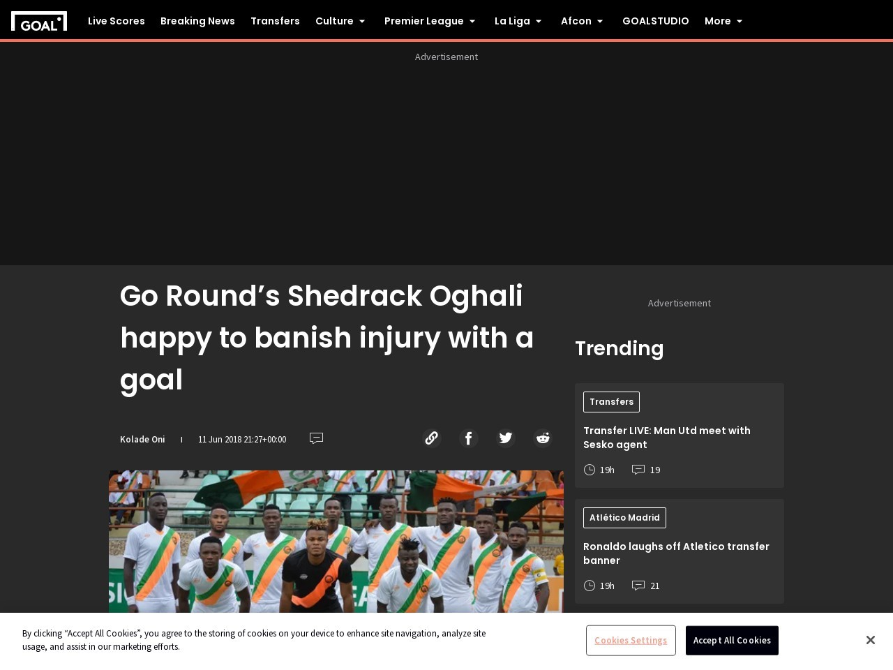 Go Round's Shedrack Oghali happy to banish injury with a goal