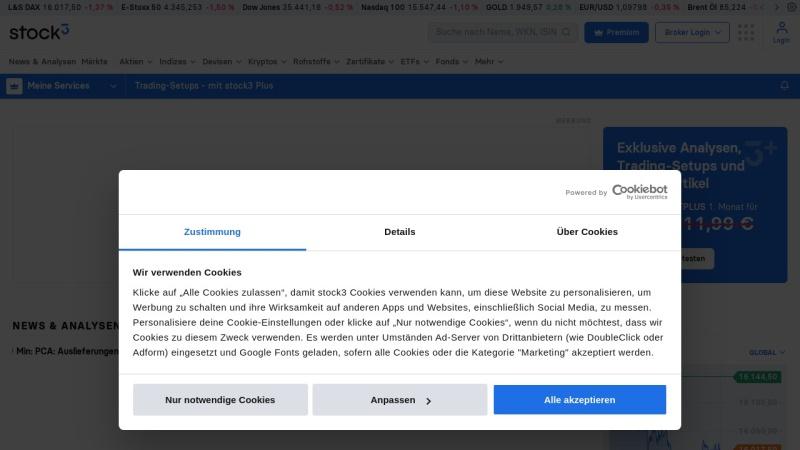 www.godmode-trader.de Vorschau, Börsenkurse und technische Aktienanalyse