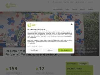 Screenshot der Website goethe.de