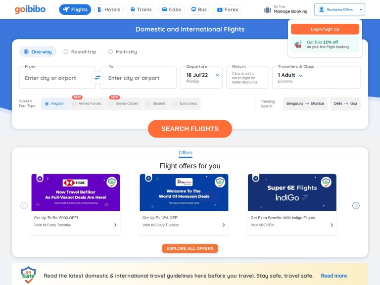 Goibibo Coupons screenshot