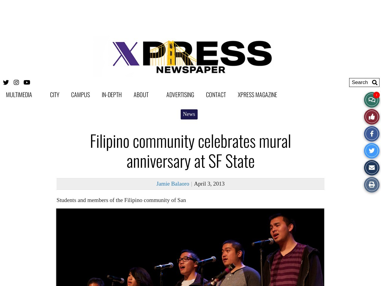 Filipino community celebrates mural anniversary at SF State
