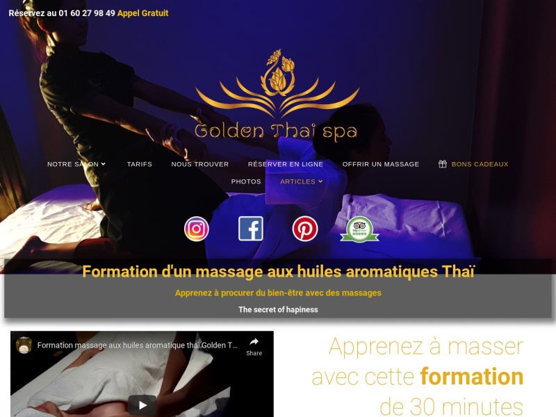 formation de massage golden thai spa