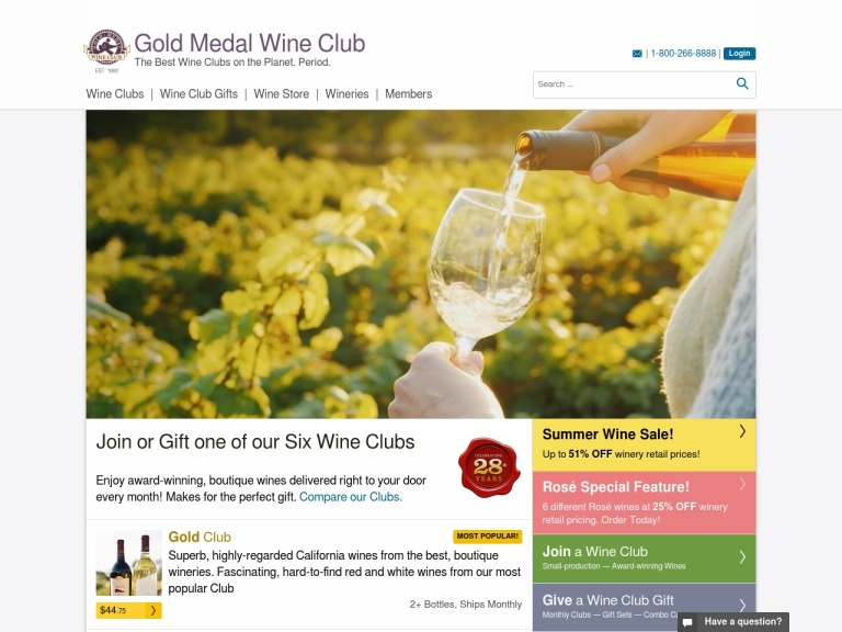 Gold Medal Wine Club-Best Wine Club on the Planet, period Coupon Codes