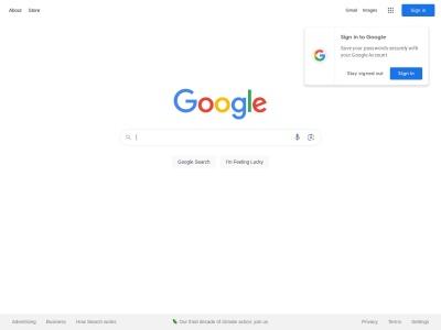 Snapshot of http://www.google.com