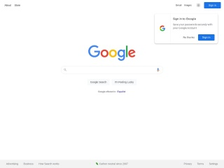 Captura de pantalla para google.es