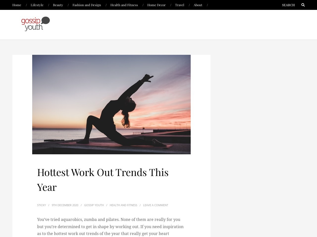 Hottest work out trends this year