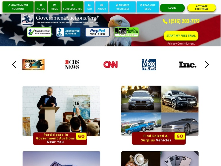 Governmentauctions.org screenshot