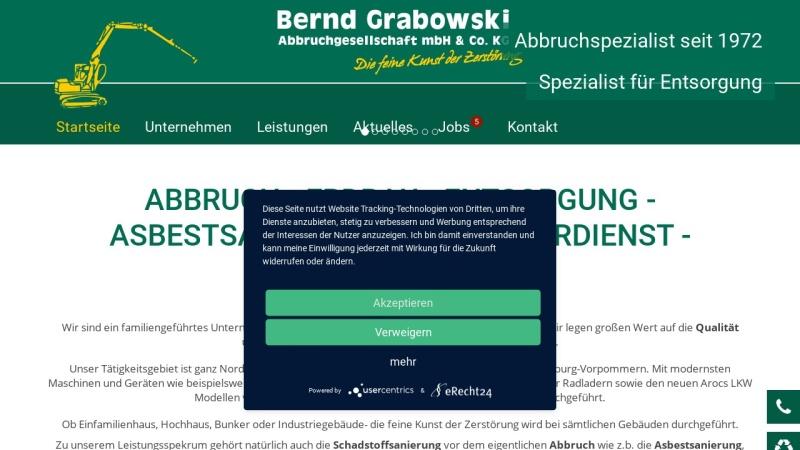 www.grabowski-abbruch.de Vorschau, Bernd Grabowski Abbruch GmbH & Co. KG