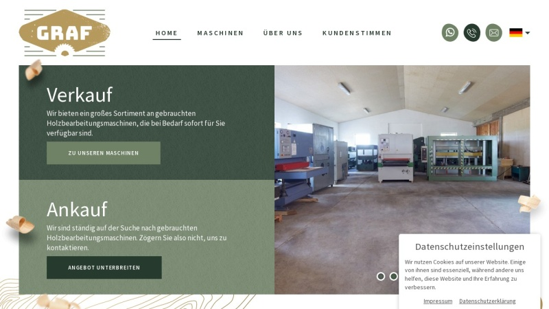 www.graf-maschinen.de Vorschau, Maschinenhandel Graf GmbH