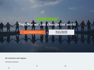 Capture d'écran pour greenpeace.org