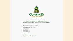 www.grosswald.de Vorschau, Grosswald Brauerei Bauer GmbH und Co. KG