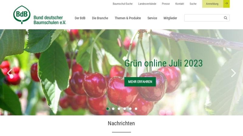 www.gruen-ist-leben.de Vorschau, Bund deutscher Baumschulen (BdB) e.V.