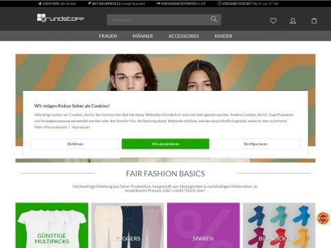 grundstoff.net- T-Shirts und Sweathsirts aus Biobaumwolle