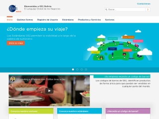 Captura de pantalla para gs1.org.bo